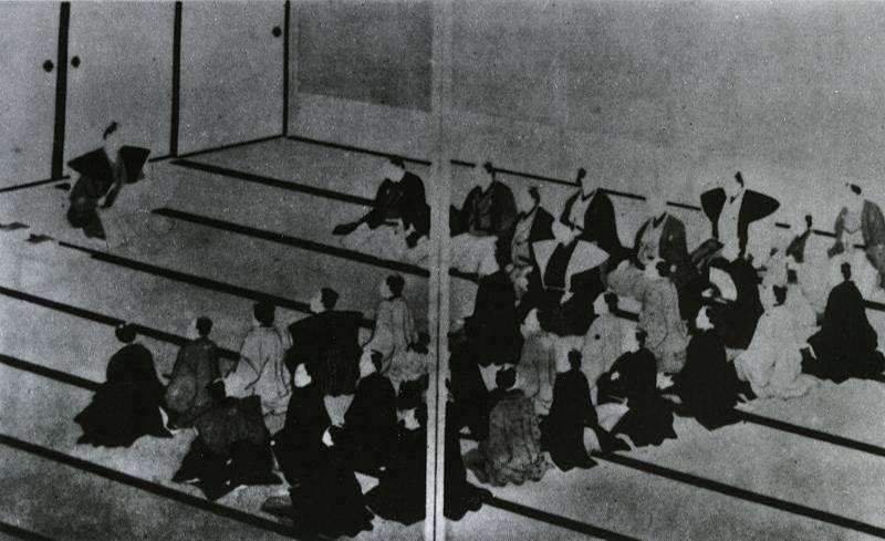 昔日日本汤岛圣堂讲经的情景 图片:CFP