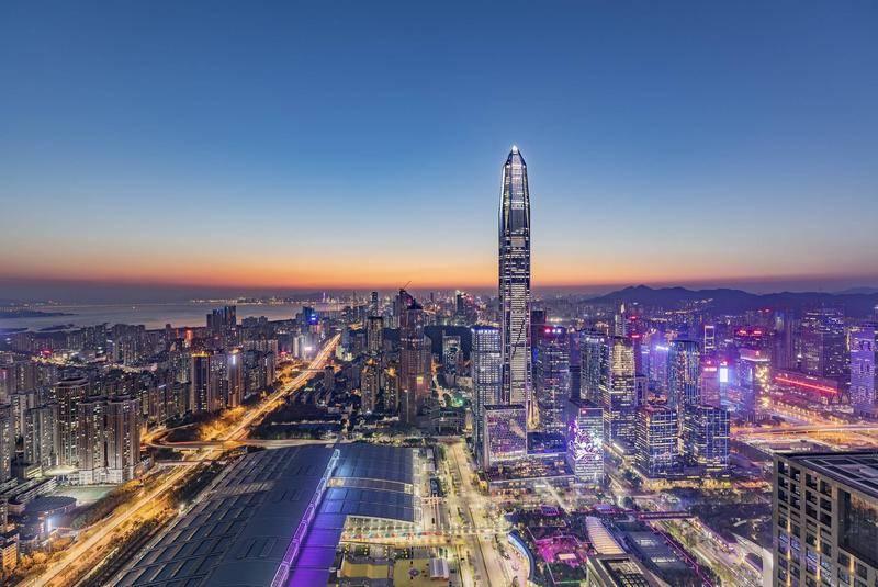深圳夜景。来源:视觉中国